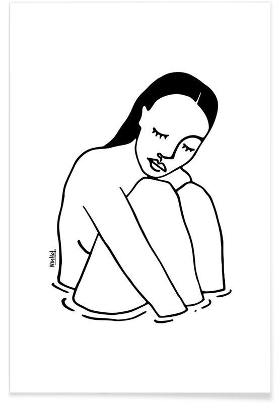 Schwarz & Weiß, Alone Line -Poster