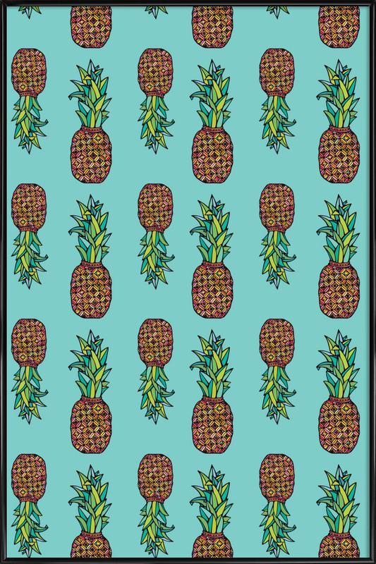 Golden Pineapple Framed Poster