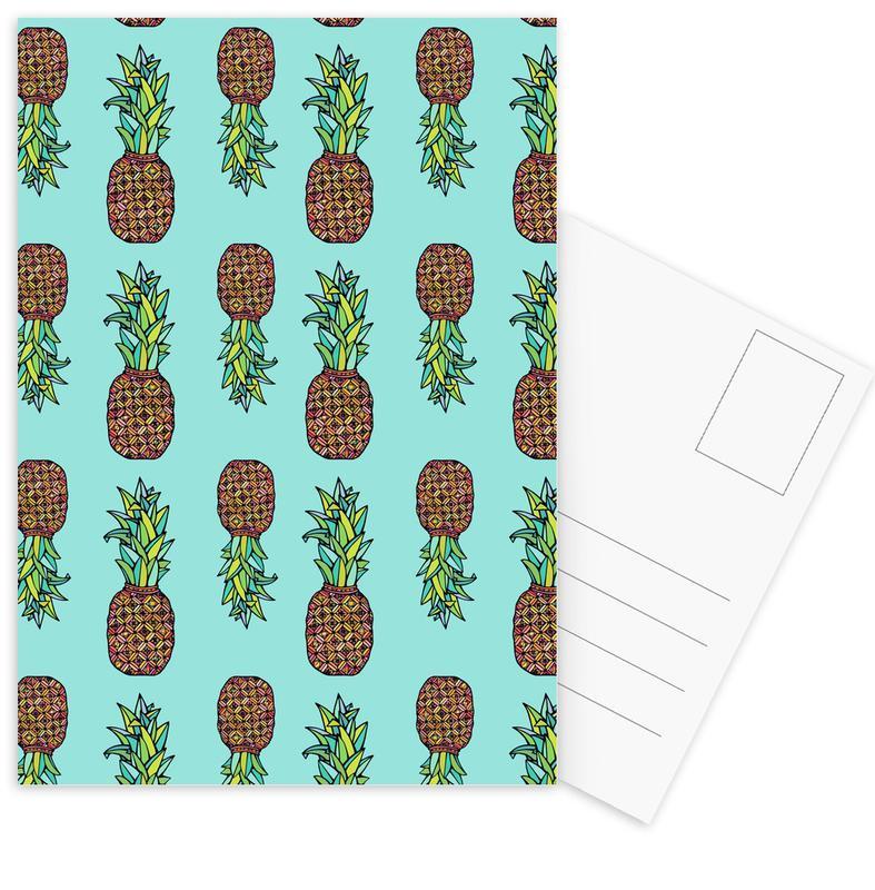 Pineapples, Golden Pineapple Postcard Set