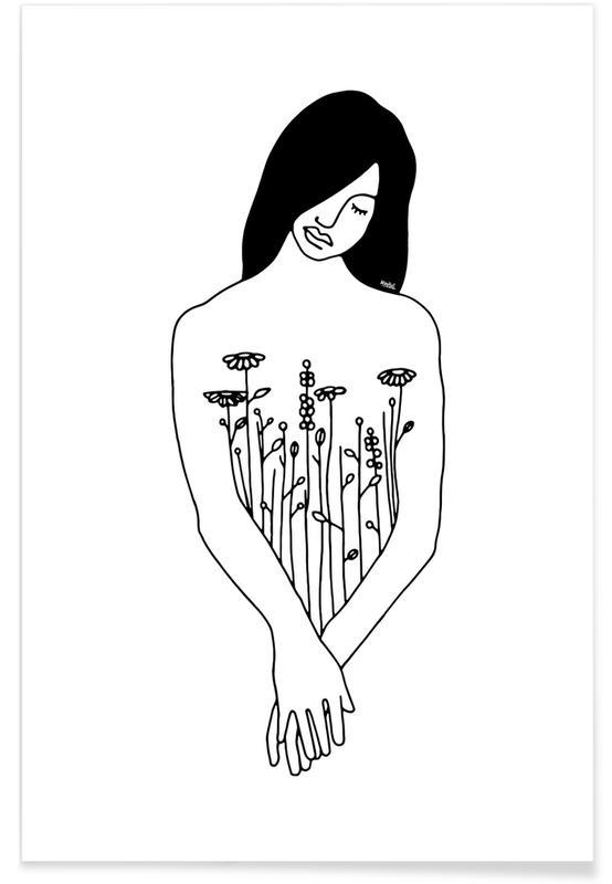 Portraits, Flowers Inside Me affiche