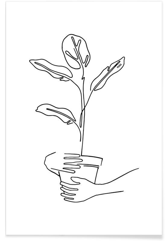 Feuilles & Plantes, Mood Plants affiche