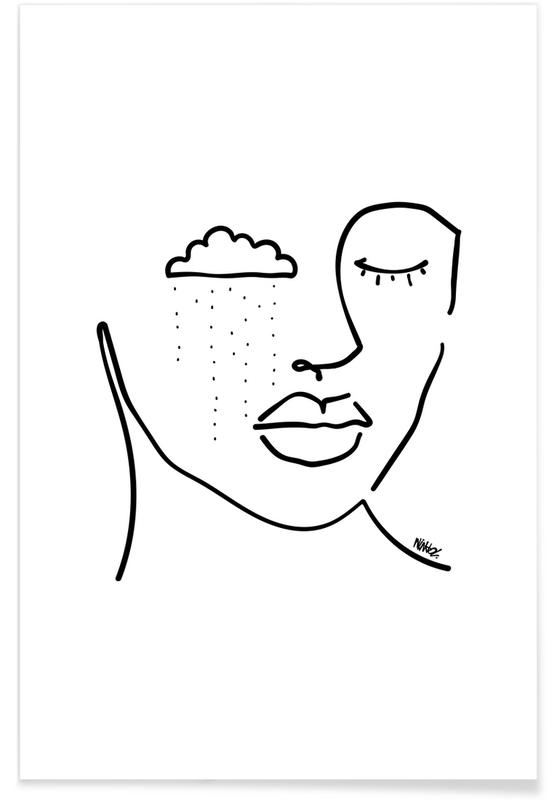 Classique, Marilyn Monroe, Saint-Valentin, Portraits, Rainy affiche