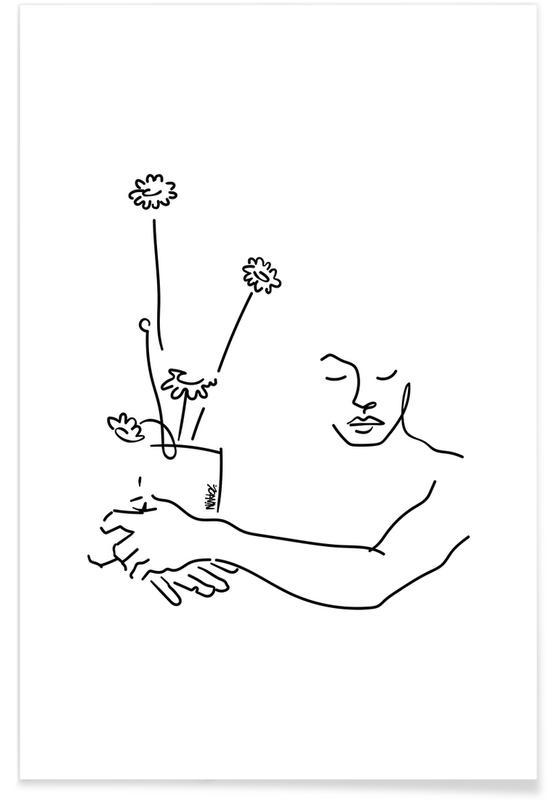 Saint-Valentin, My Flowers affiche