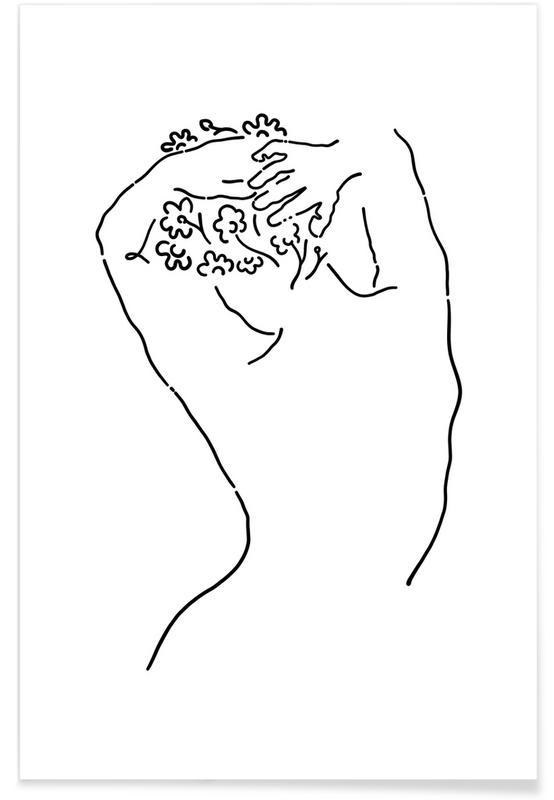 Körperformen, Nude -Poster