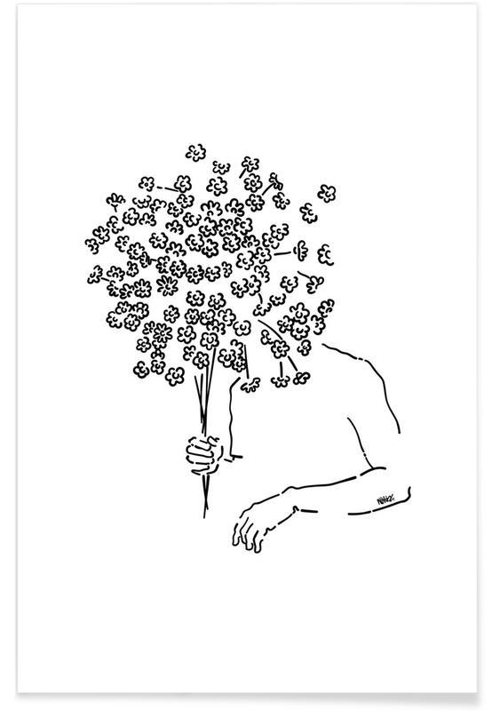 Feuilles & Plantes, Me Flowers affiche