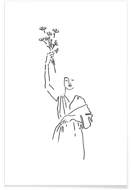 Feuilles & Plantes, Liberty affiche