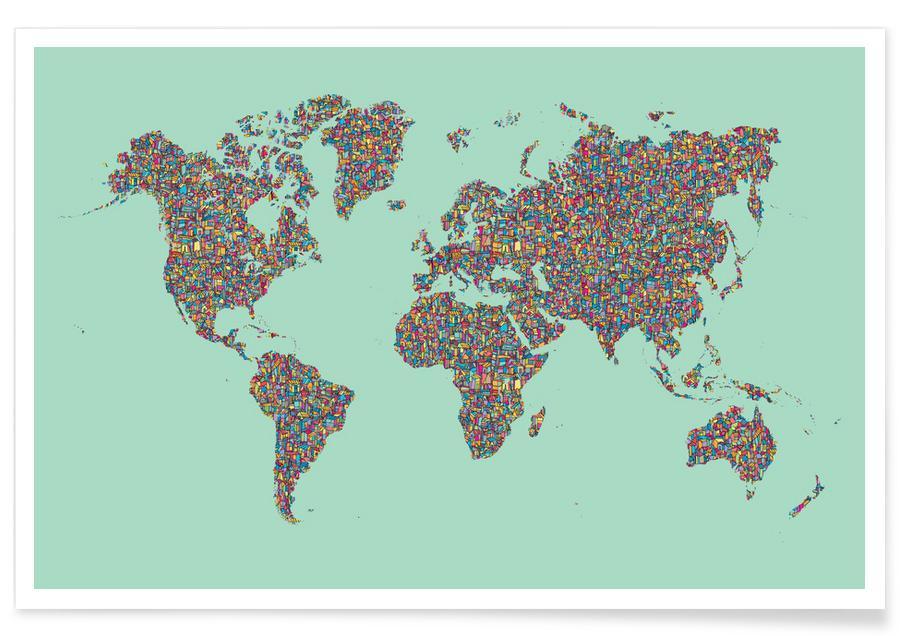 Weltkarten, Slum World -Poster