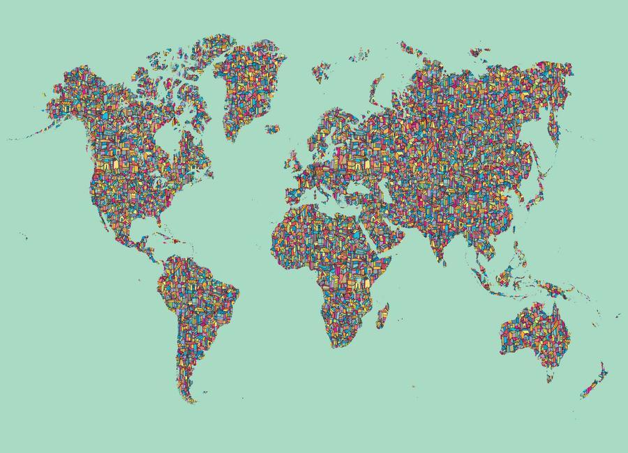 Slum World -Leinwandbild