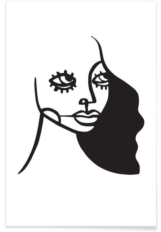 Schwarz & Weiß, Porträts, Deneb -Poster