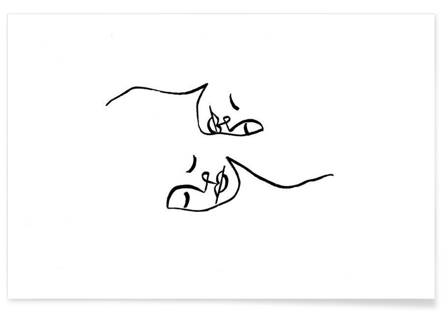 Sort & hvidt, Par, In Love Plakat