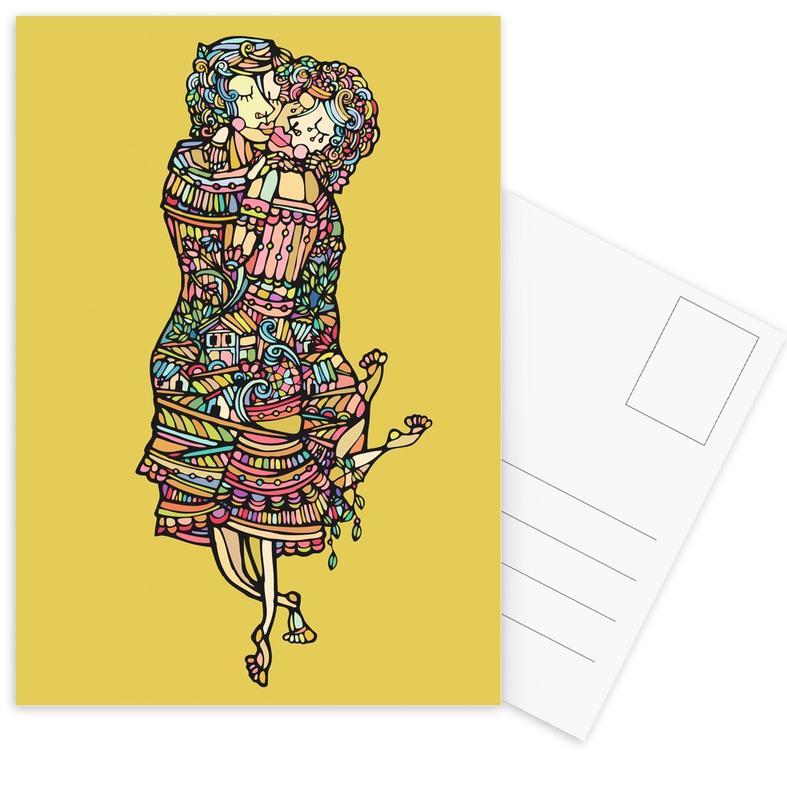 Der Kuss Postcard Set