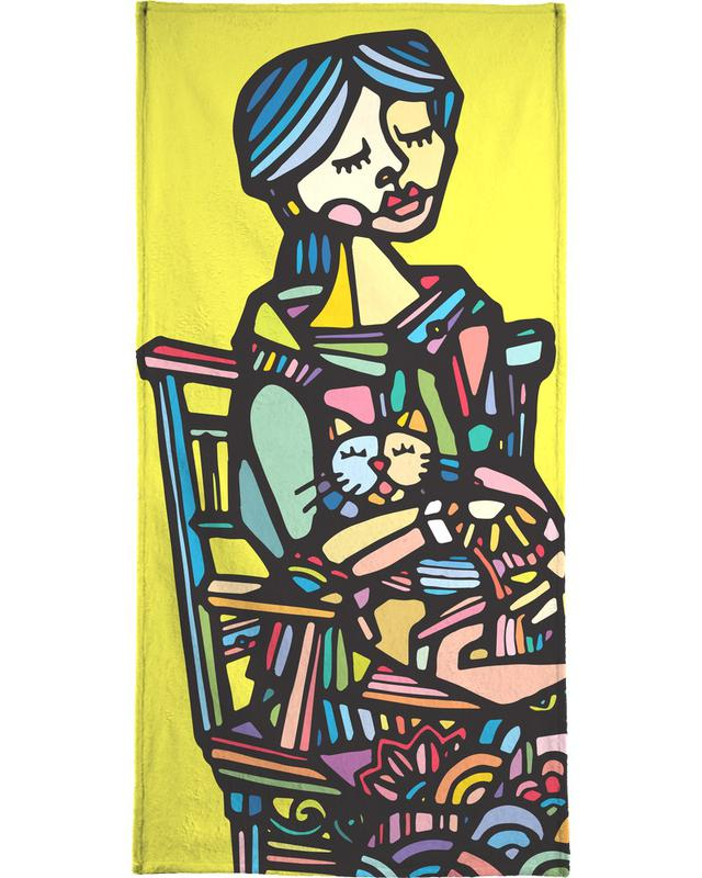 Cats Are a Girl's Best Friend -Strandtuch