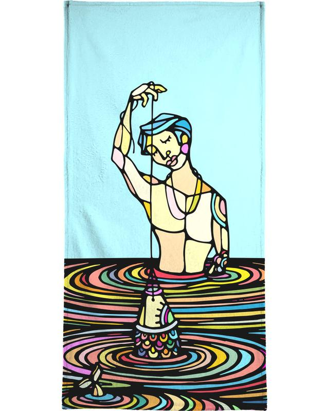 The Young Man and the Sea Beach Towel