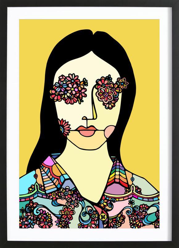 I See Flowers -Bild mit Holzrahmen