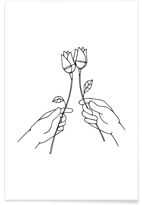 Schwarz & Weiß, Glückwünsche, Cheers -Poster