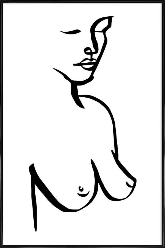 Bust -Bild mit Kunststoffrahmen