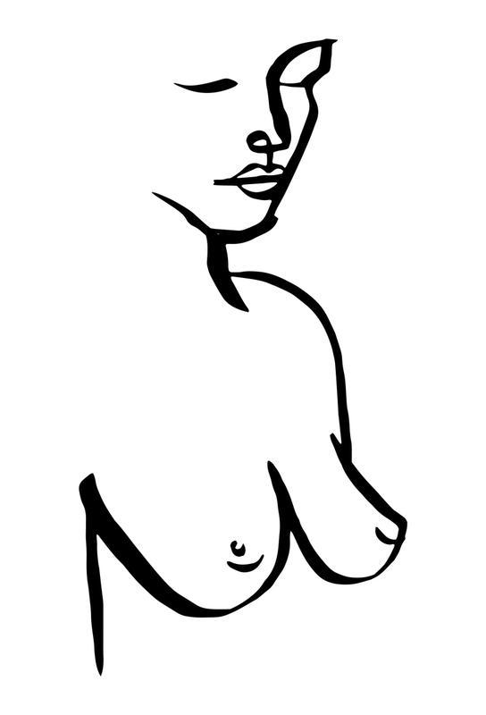 Bust -Acrylglasbild