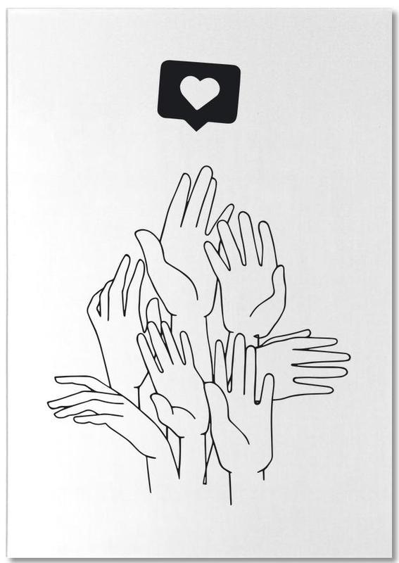 Noir & blanc, Détails corporels, Fake Plastic bloc-notes