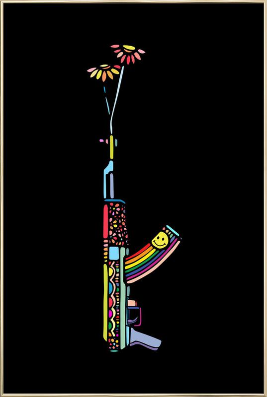Grl Pwr Weapon -Poster im Alurahmen