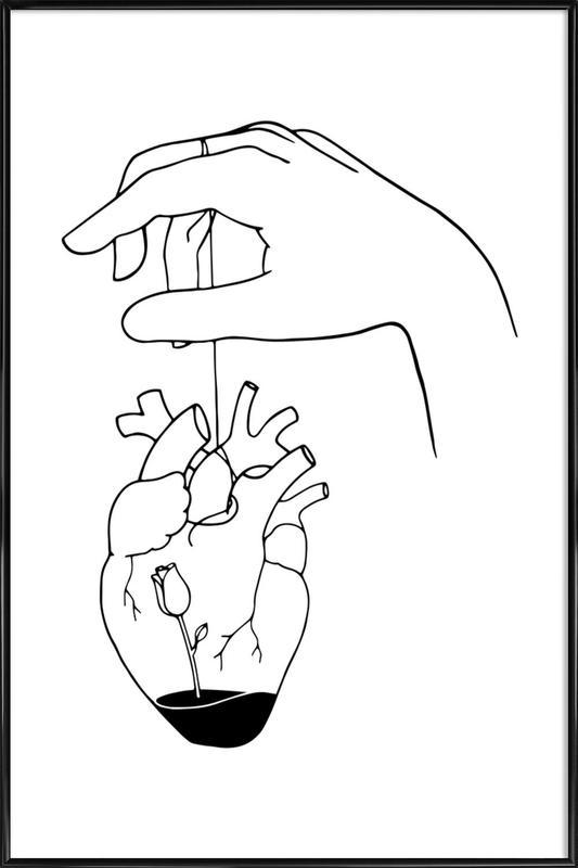How Can You Mend a Broken Heart -Bild mit Kunststoffrahmen