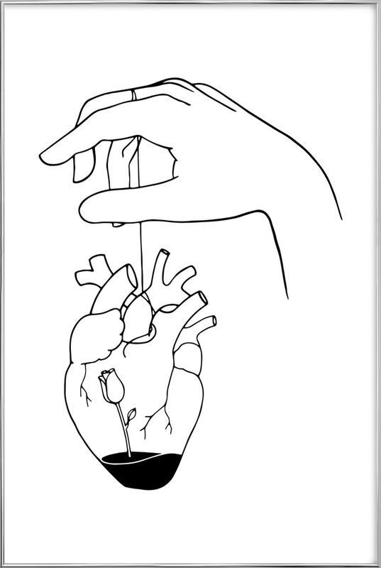 How Can You Mend a Broken Heart poster in aluminium lijst