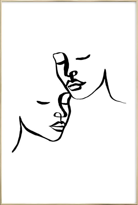 Two Lovers poster in aluminium lijst