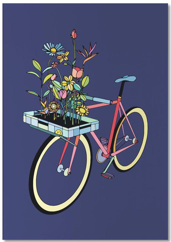 Bike and Flowers -Notizblock