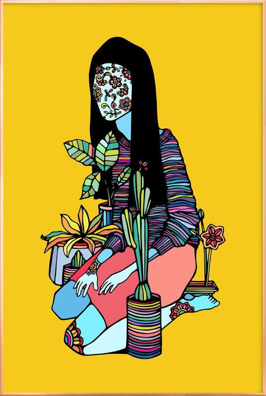 Blossoming -Poster im Alurahmen