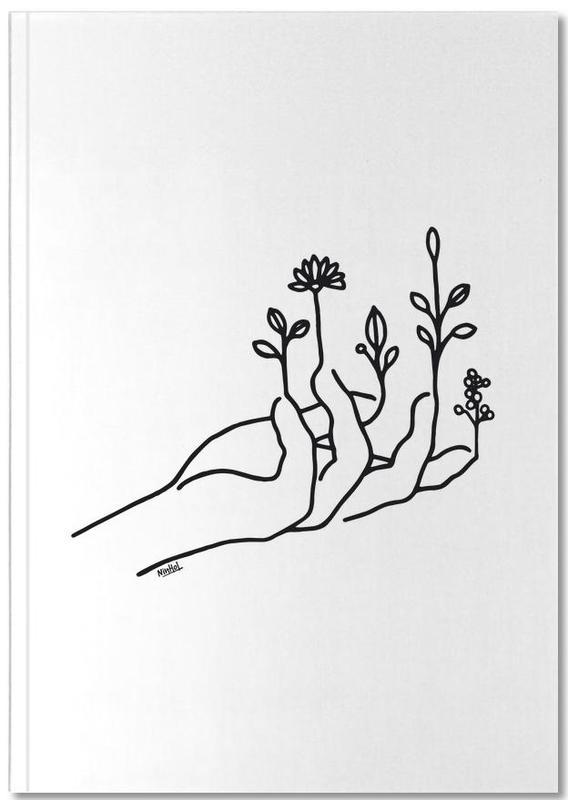Black & White, Body Close-Ups, Bloom Hand Notebook