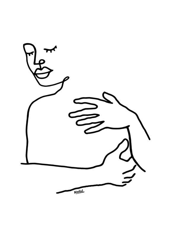 Hug -Leinwandbild