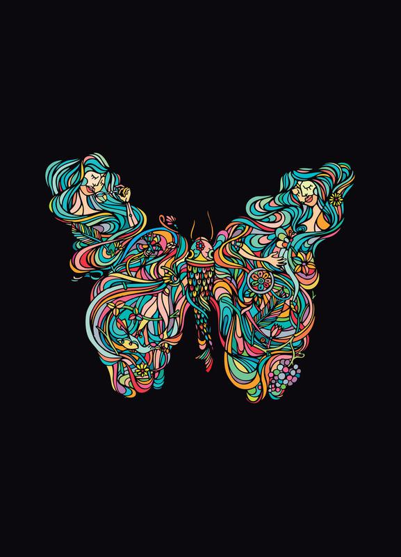 Butterfly -Leinwandbild