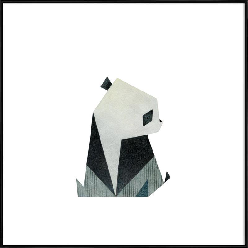 Panda 2 -Bild mit Kunststoffrahmen