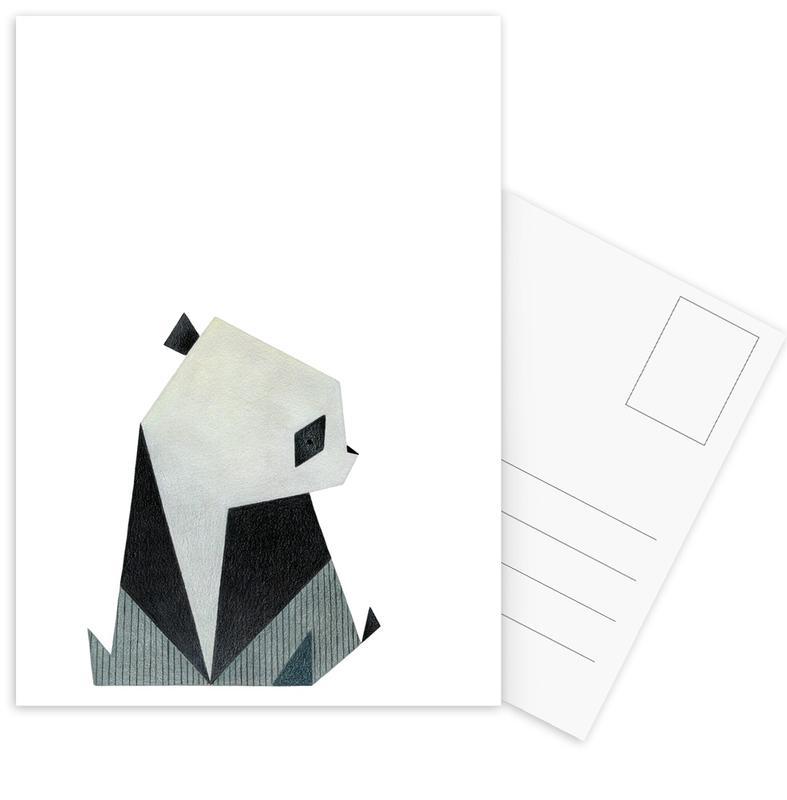 Kinderzimmer & Kunst für Kinder, Pandas, Panda 2 -Postkartenset