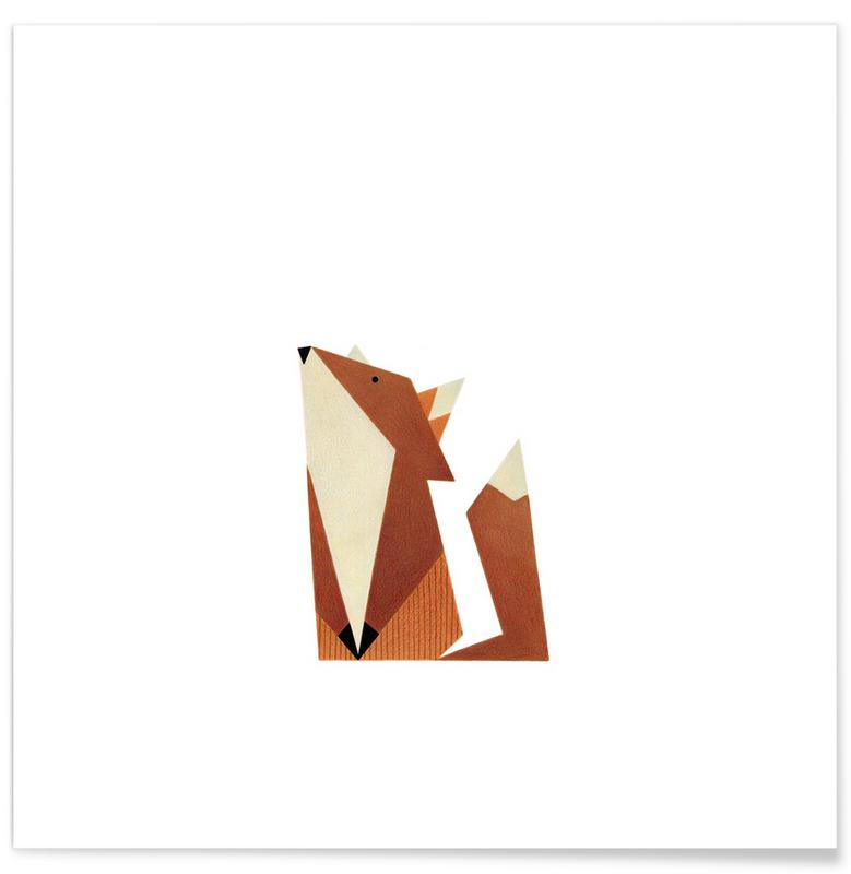 Foxes, Nursery & Art for Kids, Fuchs #1 Poster