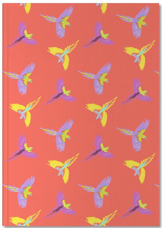 Parrots, Directional Macaw Notebook