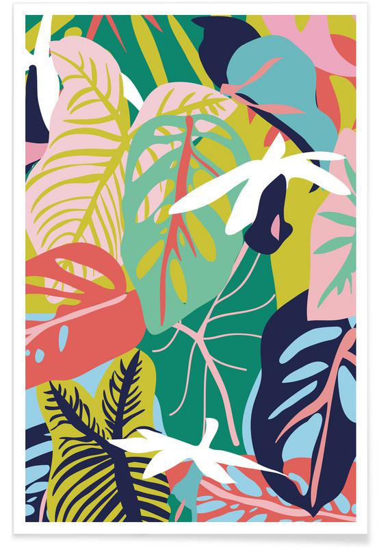, Caladium And Monsteras Mariery Young 01 affiche