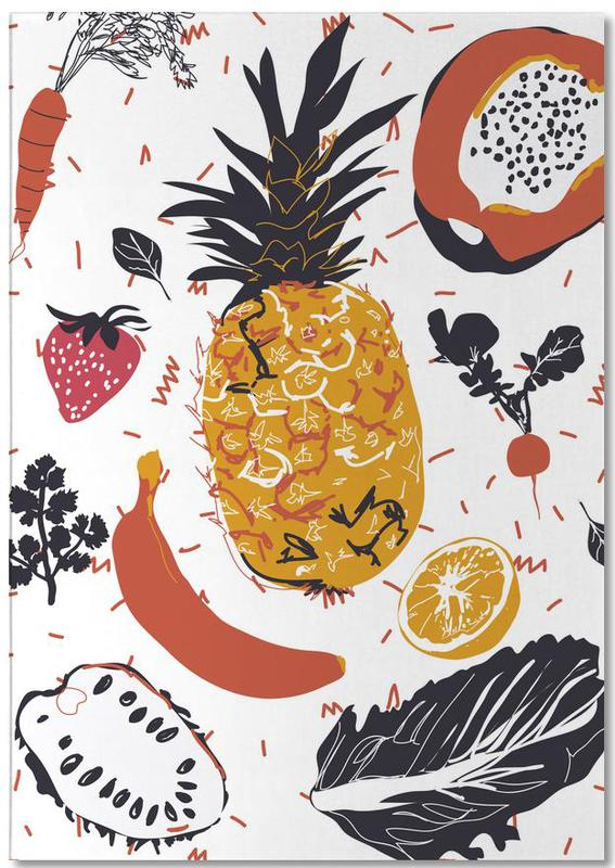 Fruit Veggie Party Notepad