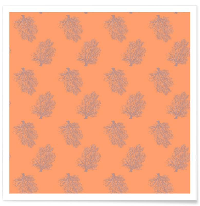 Bomen, Orange Coral poster