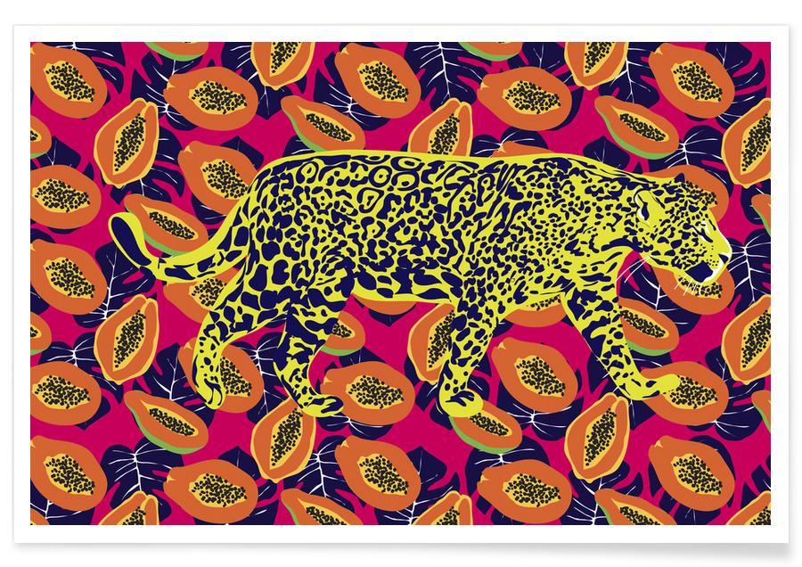 Jaguars, Prince Jaguar In Papaya Palace Poster