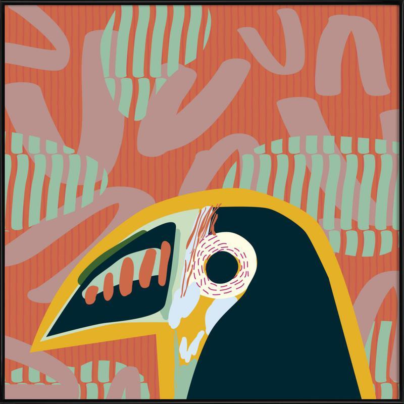 Tropical Toucan -Bild mit Kunststoffrahmen