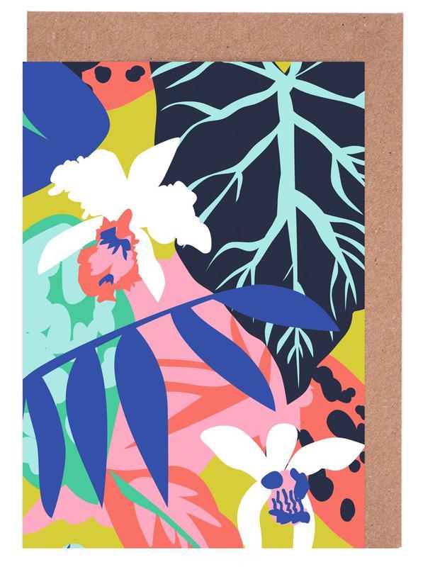 Blätter & Pflanzen, Jungle Foliage -Grußkarten-Set