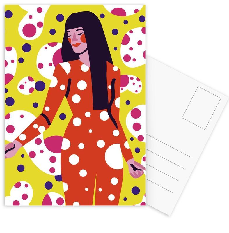 Kusama Print Postcard Set