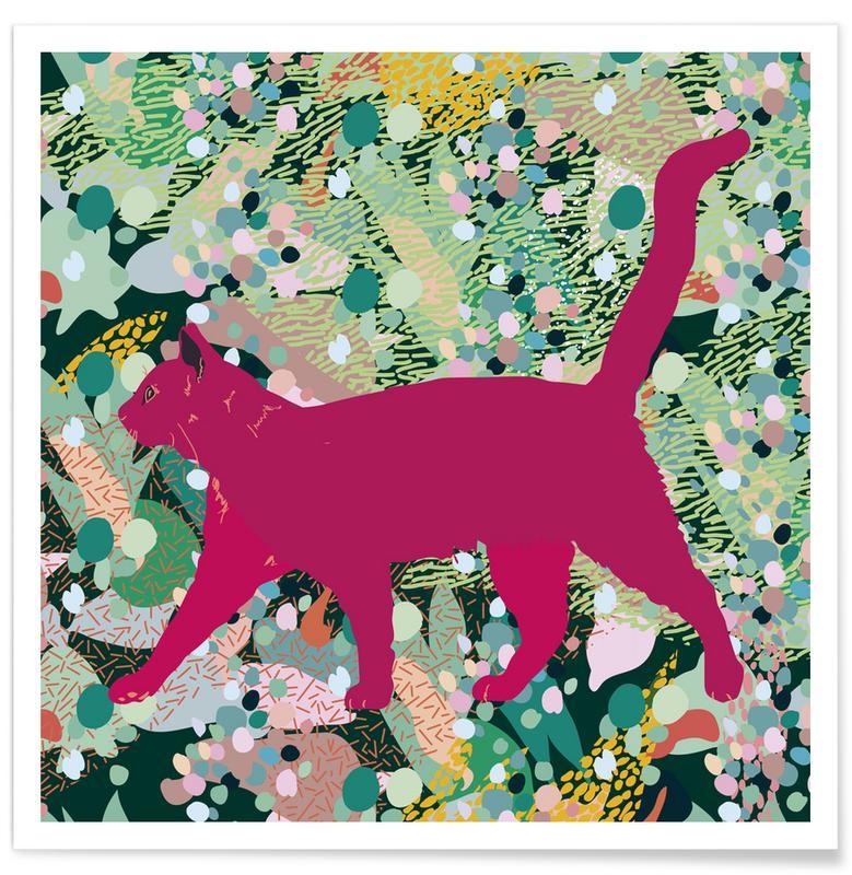 Katzen, Catgenta -Poster