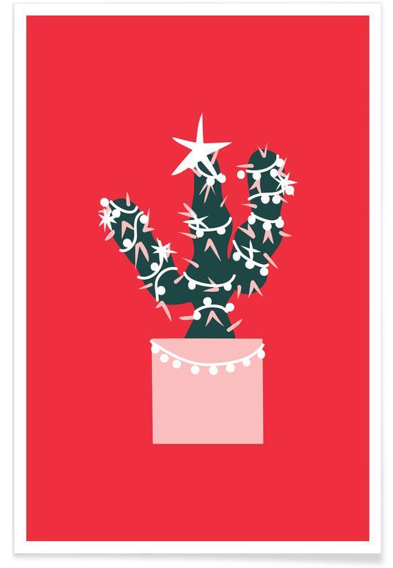 Cacti, Christmas, Christmas Cactus 2 Poster