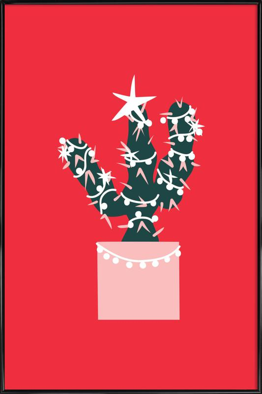 Christmas Cactus 2 Framed Poster