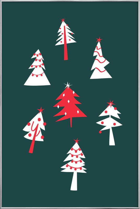 Holiday Pines Poster in Aluminium Frame
