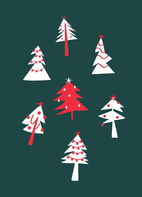 Holiday Pines Canvas Print