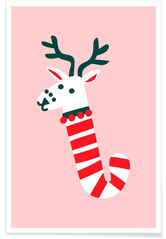 Peppermint Deer Poster