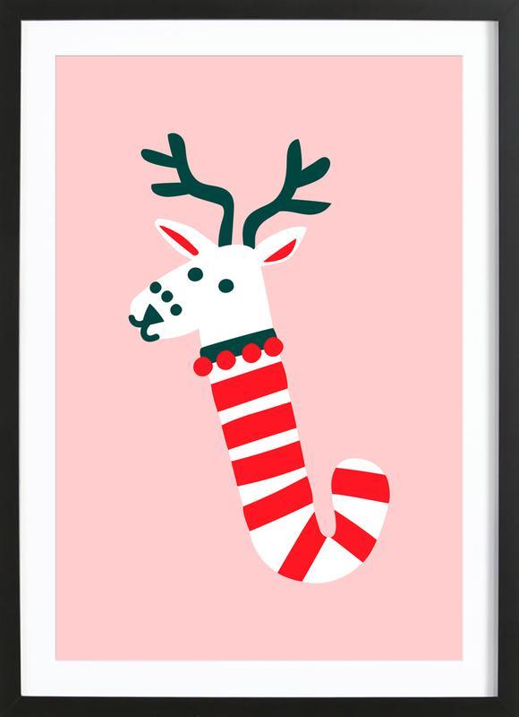Peppermint Deer Framed Print