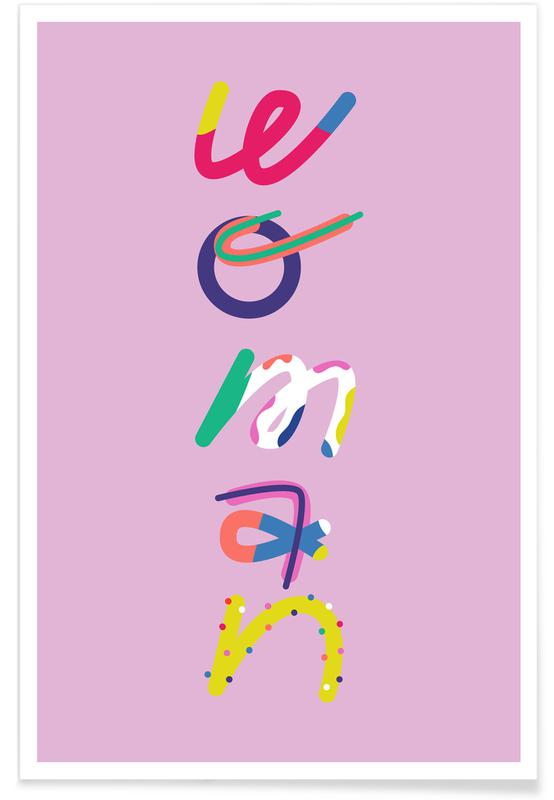Motivation, Woman -Poster